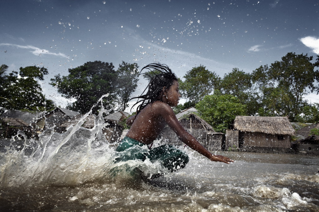 Coastal flooding in Bengal Bay | Witness Image